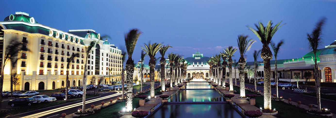 Emperors Palace South Africa - Main Entrance - Exterior Lighting